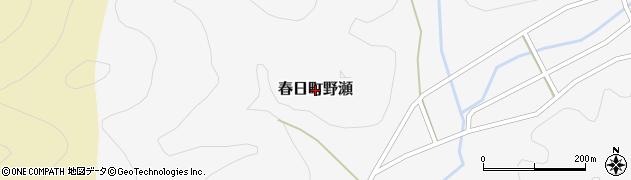 兵庫県丹波市春日町野瀬周辺の地図