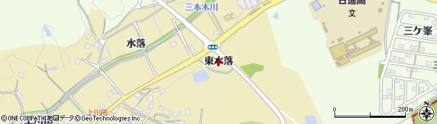 愛知県日進市三本木町(東水落)周辺の地図