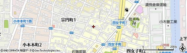 愛知県名古屋市中川区四女子町周辺の地図