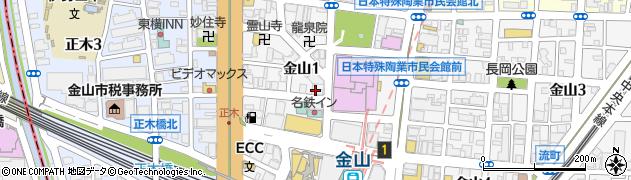 芋んちゅ金山店周辺の地図
