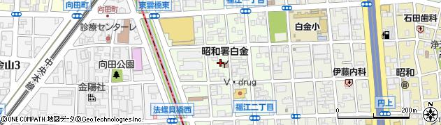 愛知県名古屋市昭和区福江周辺の地図