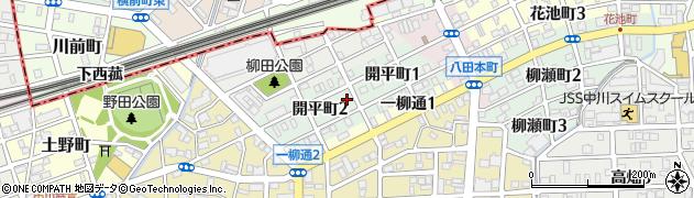 愛知県名古屋市中川区開平町周辺の地図