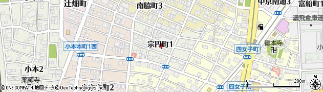 愛知県名古屋市中川区宗円町周辺の地図