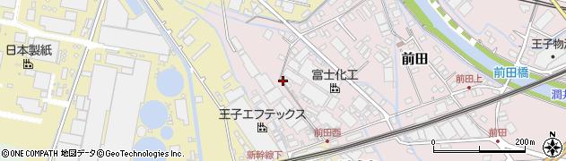 静岡県富士市前田周辺の地図