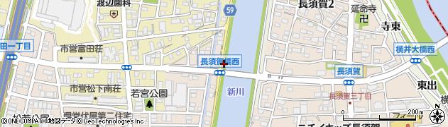 愛知県名古屋市中川区富田町大字長須賀(西出)周辺の地図