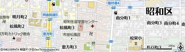 愛知県名古屋市昭和区石仏町周辺の地図