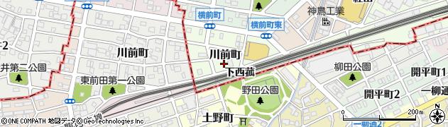 愛知県名古屋市中村区川前町周辺の地図