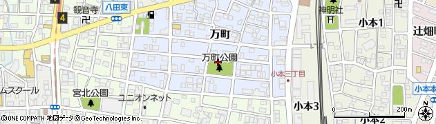 愛知県名古屋市中川区万町周辺の地図
