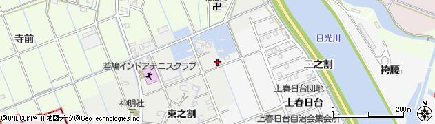 愛知県津島市半頭町(東之割)周辺の地図