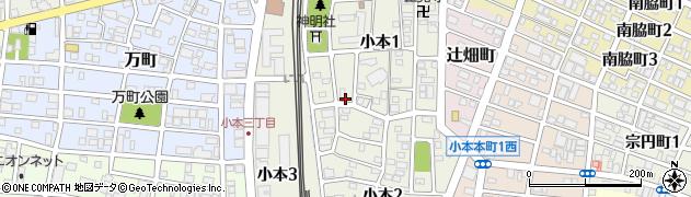 愛知県名古屋市中川区小本周辺の地図
