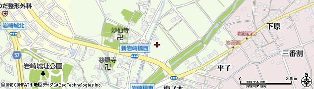 愛知県日進市岩崎町(小林)周辺の地図