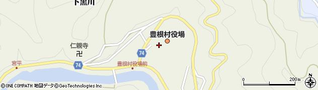 愛知県北設楽郡豊根村周辺の地図