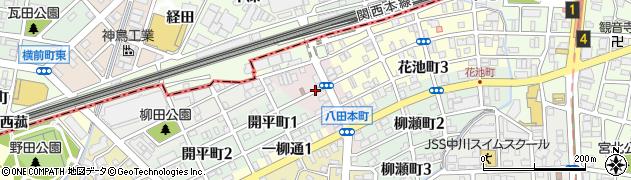 愛知県名古屋市中川区八田本町周辺の地図
