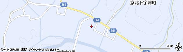 京都府京都市右京区京北下宇津町(中)周辺の地図