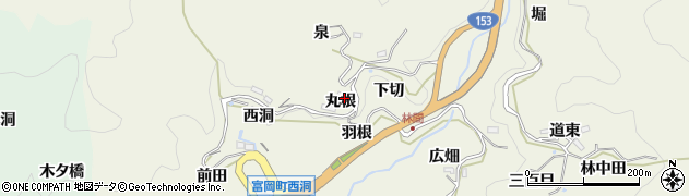愛知県豊田市富岡町(丸根)周辺の地図