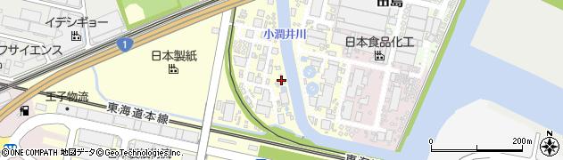 静岡県富士市中河原周辺の地図