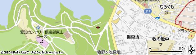 愛知県名古屋市名東区猪高町大字高針周辺の地図
