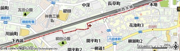 愛知県名古屋市中川区野田町(下ノ坪)周辺の地図