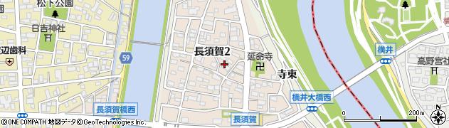 愛知県名古屋市中川区富田町大字長須賀(屋敷)周辺の地図