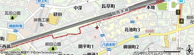 愛知県名古屋市中川区八田町(下長草)周辺の地図