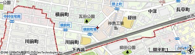 愛知県名古屋市中村区野上町周辺の地図
