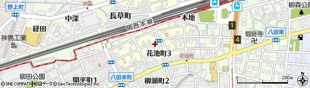 愛知県名古屋市中川区花池町周辺の地図
