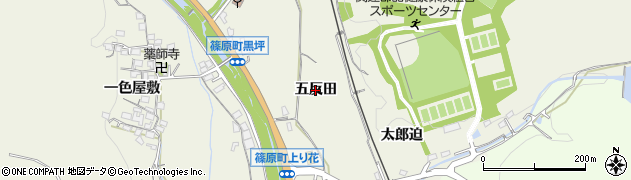 愛知県豊田市篠原町(五反田)周辺の地図