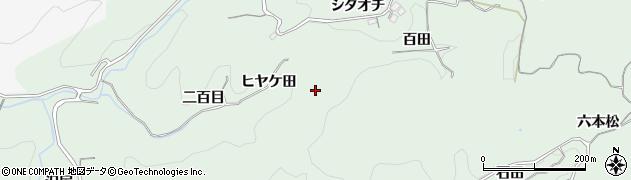 愛知県豊田市大塚町(ヒヤケ田)周辺の地図