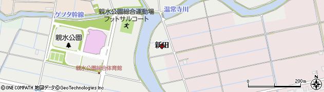 愛知県愛西市落合町(新田)周辺の地図