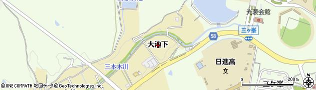 愛知県日進市三本木町(大池下)周辺の地図