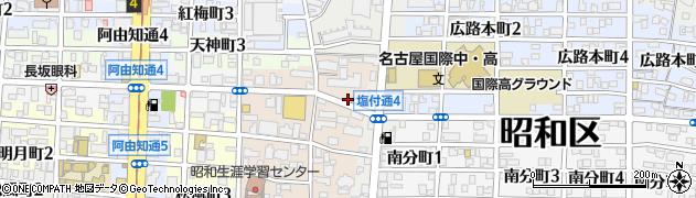 愛知県名古屋市昭和区石仏町2丁目1周辺の地図
