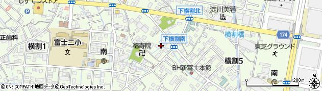 静岡県富士市横割周辺の地図