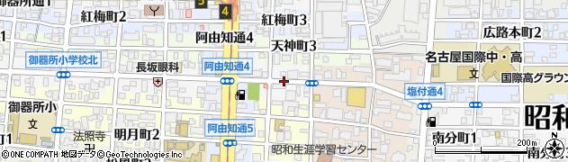 愛知県名古屋市昭和区台町周辺の地図