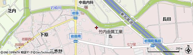 愛知県日進市岩藤町(所寒)周辺の地図