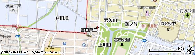 愛知県名古屋市中川区富田町大字戸田(外戸)周辺の地図