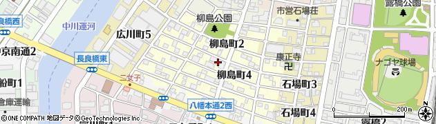 愛知県名古屋市中川区柳島町周辺の地図