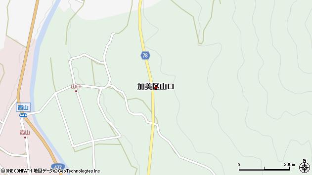 〒679-1325 兵庫県多可郡多可町加美区山口の地図