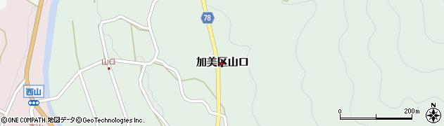 兵庫県多可町(多可郡)加美区山口周辺の地図