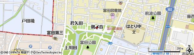 愛知県名古屋市中川区富田町大字服部(鵜ノ首)周辺の地図