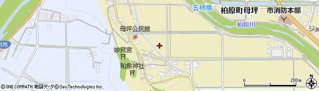 兵庫県丹波市柏原町母坪周辺の地図
