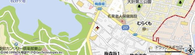 サガミ 梅森坂店周辺の地図