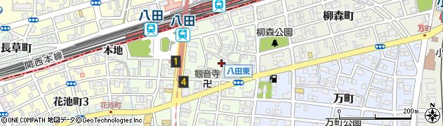 愛知県名古屋市中川区八田町周辺の地図