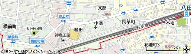 愛知県名古屋市中村区野田町周辺の地図
