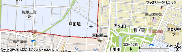 愛知県あま市七宝町伊福(戸田境)周辺の地図