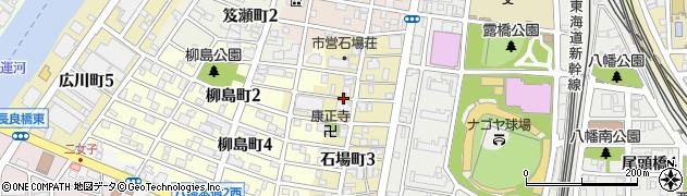 愛知県名古屋市中川区石場町周辺の地図