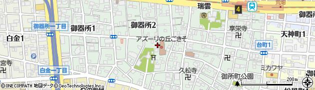 愛知県名古屋市昭和区御器所周辺の地図