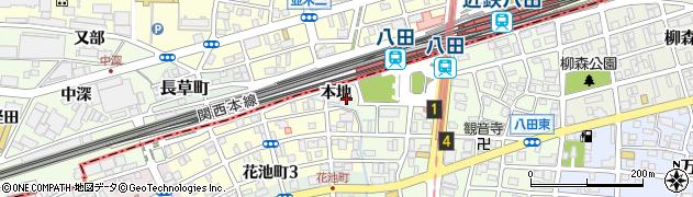愛知県名古屋市中川区岩塚町周辺の地図