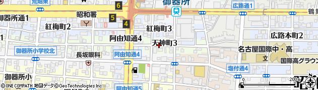 愛知県名古屋市昭和区天神町周辺の地図