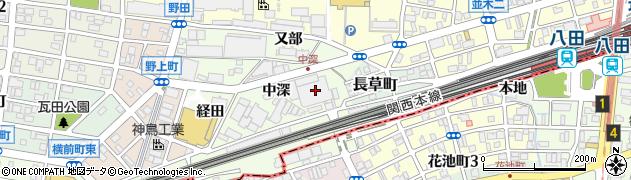 愛知県名古屋市中村区野田町(中深)周辺の地図