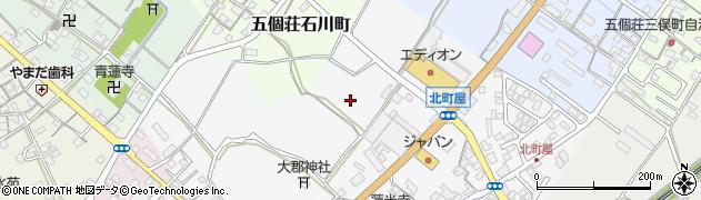 滋賀県東近江市五個荘北町屋町周辺の地図